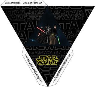 Caja con forma de pirámide de Star Wars.