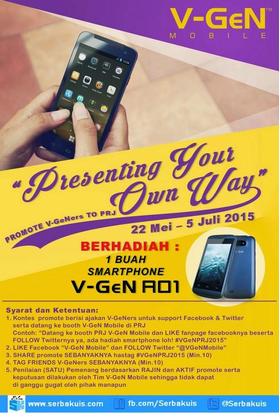 Kontes Presenting Your Own Way Berhadiah V-Gen AO1