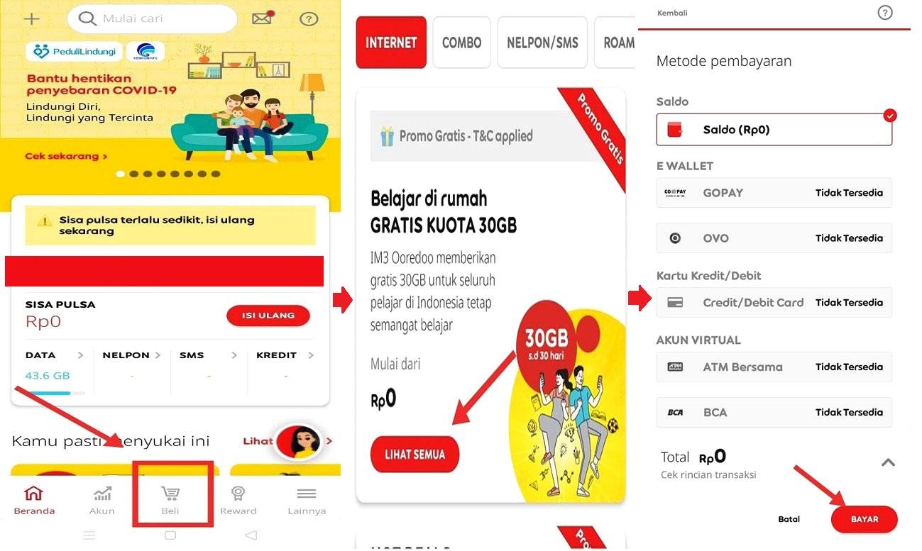 Cara Mengaktifkan Kuota Edukasi Indosat Dan Mengubahnya Menjadi Kuota Reguler Paket Internet