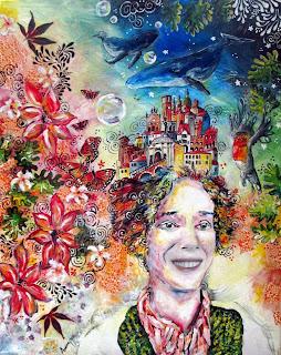autoportrait Self-portrait autoritatto acrilico tela tableau painting quadro