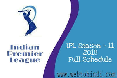 indian premier league t20 cricket 2018