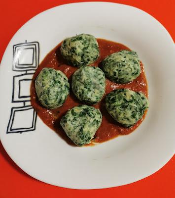 Unos deliciosos Malfatti de espinacas y ricota