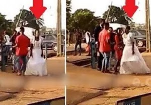 """Eyah!! Bride Chases Groom Who """"Cancelled"""" Wedding Minutes Before Saying """"I Do"""""""