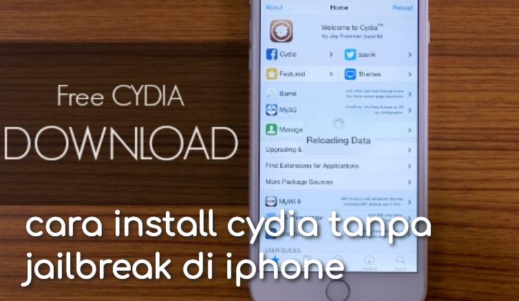 cara install cydia tanpa jailbreak di iphone
