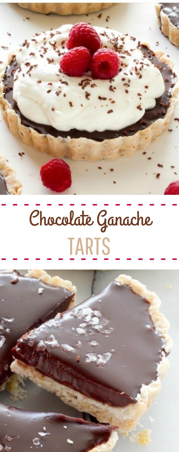 Chocolate Ganache Tarts #tart #dessert