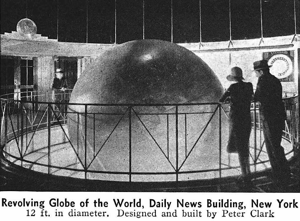 "1938 ""Revolving Globe of the World,  Daily News Building,  New York"""