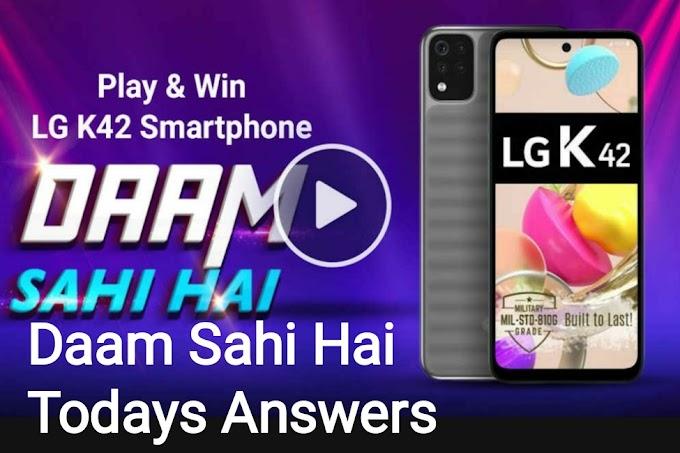 Flipkart Dam Sahi Hai Quiz Answers 1 April 2021