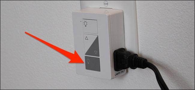 IMpostazione del controllo remoto della lam pada Lutron Caseta