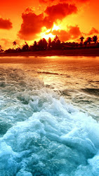 ocean sunset hd beach iphone wallpapers wallpapersafari