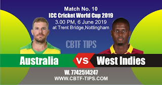 World Cup 2019 Match Prediction Tips by Experts AUS vs WI