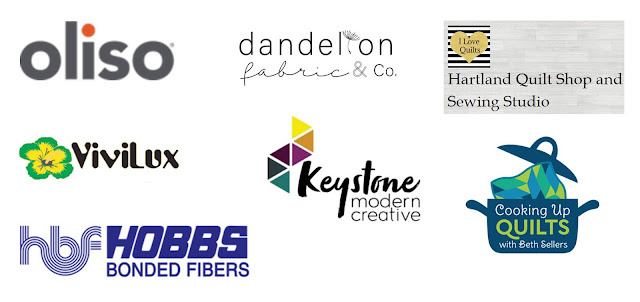Exploding Heart quilt along sponsors