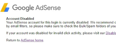 Common Reasons for AdSense Account Disabled