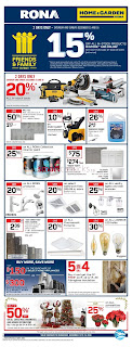 Rona Weekly Flyer Circulaire December 13 - 19, 2018