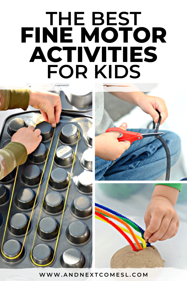 Fine motor activities for kids, including scissor skills activities, prewriting activities, fine motor crafts, writing trays, and more!