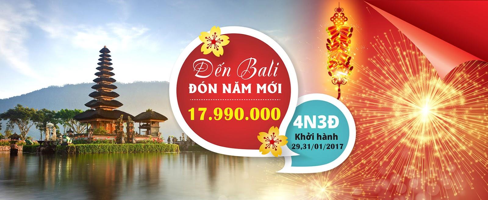 Đón tết cùng tour du lịch đảo Bali giá rẻ