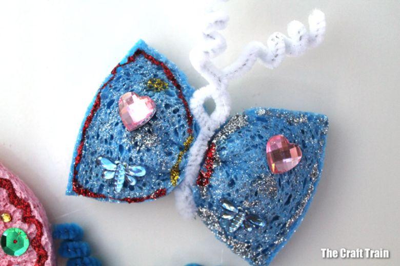 sponge butterfly craft