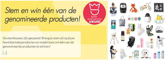 Stemmen op de genomineerde babyproducten Baby Innovation Award 2018