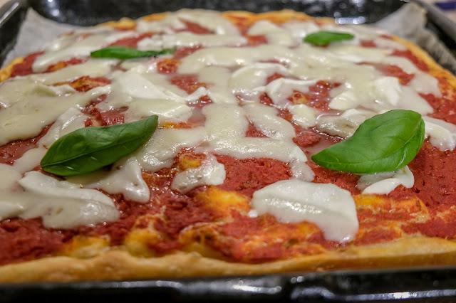 Condimento pizza in teglia