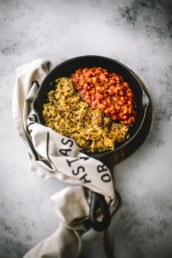 Recette vegan Bake beans & hash brown