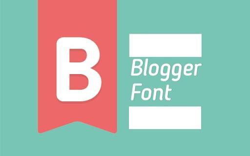 font blogger