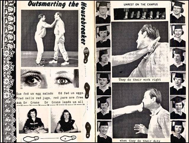 Disco self defense altered collage book