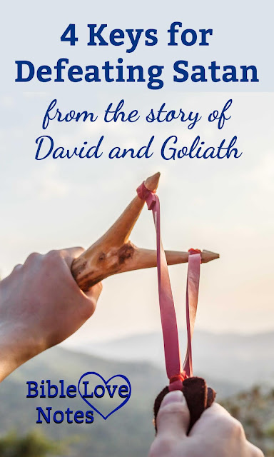 David's defeat of Goliath offers 4 keys for defeating Satan in our lives.