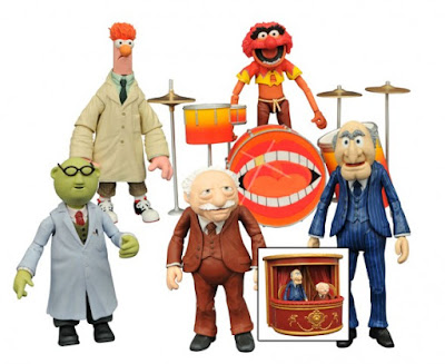 The Muppets Select Action Figures Series 2 by Diamond Select Toys – Animal, Bunsen Honeydew with Beaker and Statler with Waldorf