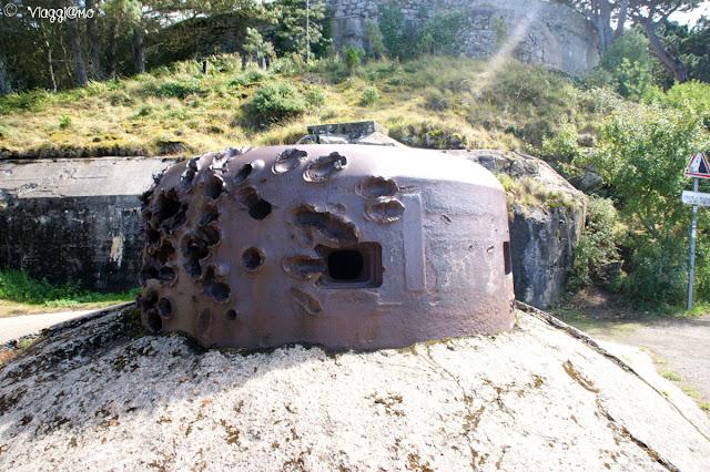 Bunker e torrette vicini al Memorial 39/45 della Cité d'Aleth