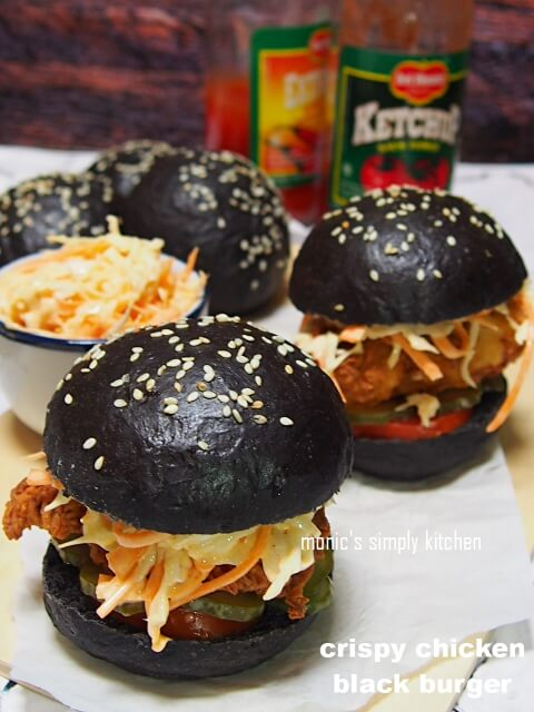 resep crispy chicken black burger