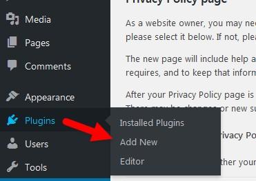 agragar nuevo plugin