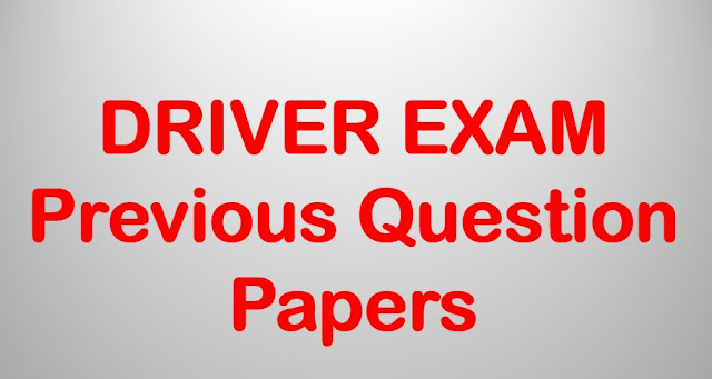 DRIVER EXAM Previous Question Papers | Kerala PSC