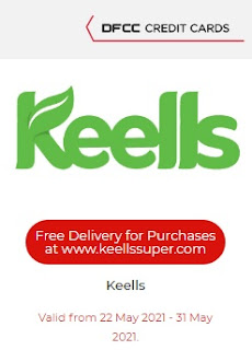 Free Delivery for at www.keellssuper.com for DFCC Cardholders
