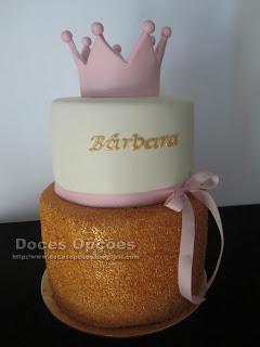 bolo coroa princesa bragança doces opções