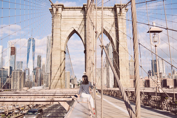 most instagrammable places in NYC brooklyn bridge'