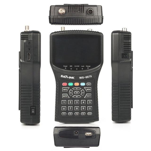 SATLINK WS-6979 DVB-S2/T2 C combo Satellite Finder Spectrum Analyzer Satfinder Meter 4.3inch LCD WS6979