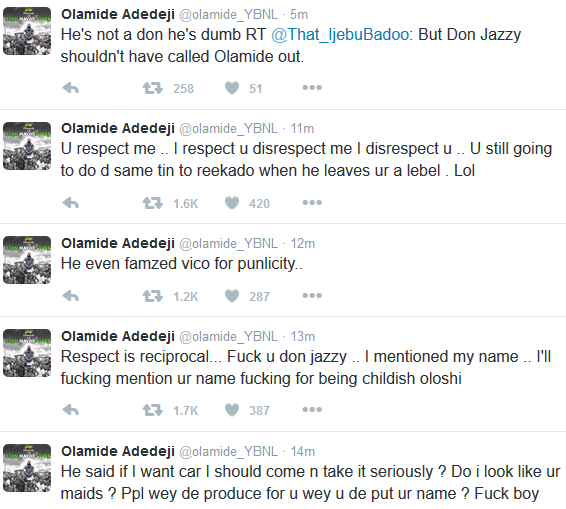 Olamide and Donjazzy The Headies 2016