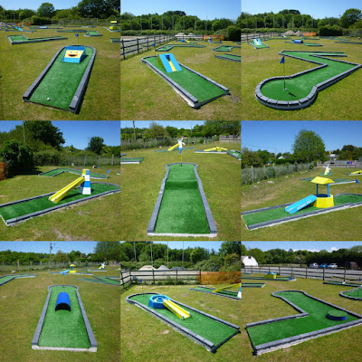 The Crazy Golf course at Penwith Pitch & Putt in St Erth, Hayle, Cornwall