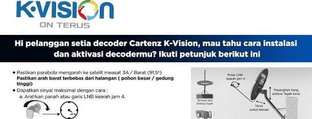 Cara Instalasi dan Aktivasi Decoder Cartenz K Vision