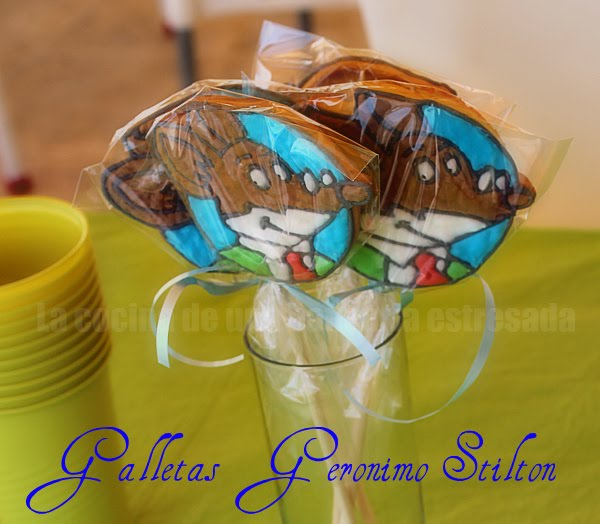 Galletas decoradas con glada de Geronimo Stilton