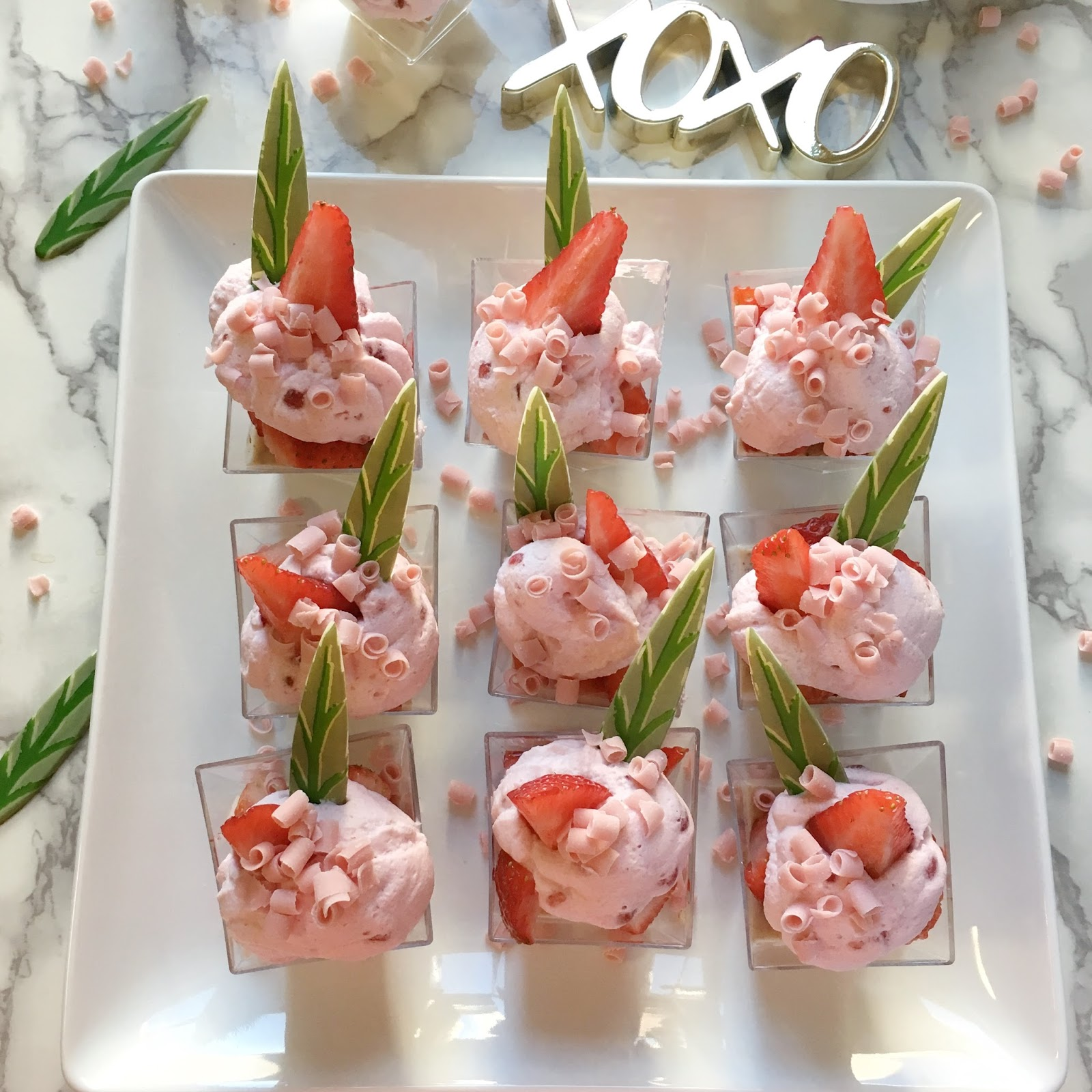 Gold-Leaf-Gourmet-Strawberries-and-Cream-Verrines-Recipe