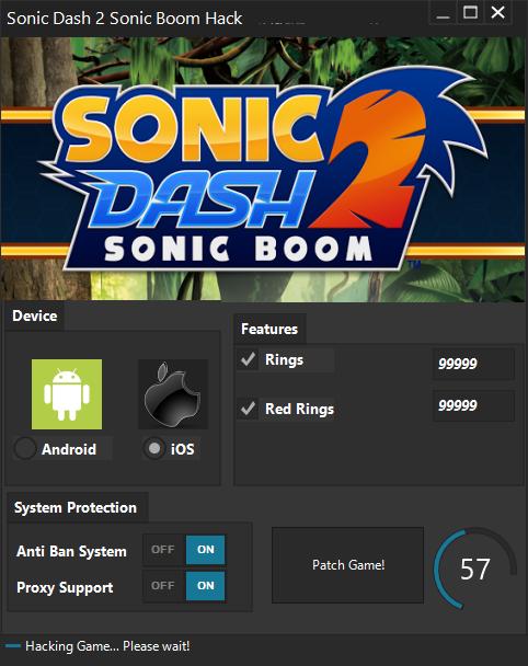 sonic 2 dash mobile cheats