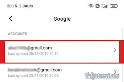 delete gmail xiaomi