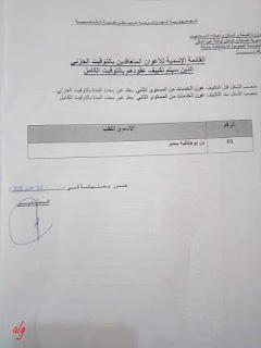 قائمة المعنيين بالإدماج في ولاية عين الدفلى (قطاع الصحة)