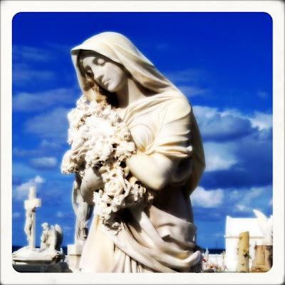 © corrine bayraktaroglu graveside statuary in Old San Juan