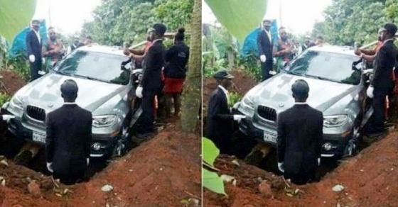 Anak Ini Kuburkan Ayahnya Dalam BMW Seharga 1,2 Miliar, Katanya Biar Cepat Masuk Surga