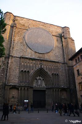 La Chiesa di Santa Maria del Pi si trova nel Barrì Gotic