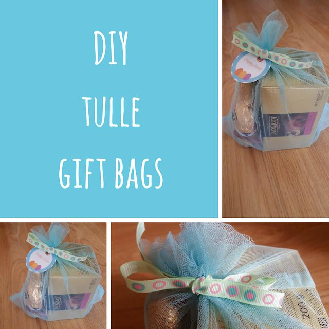 DIY Tulle gift bags tutorial
