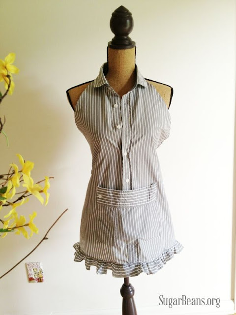 Men's Shirt Apron by Sugar Beans