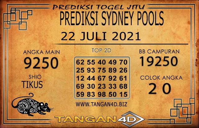 PREDIKSI TOGEL SYDNEY TANGAN4D 22 JULI 2021