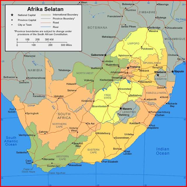 Gambar Peta Afrika Selatan